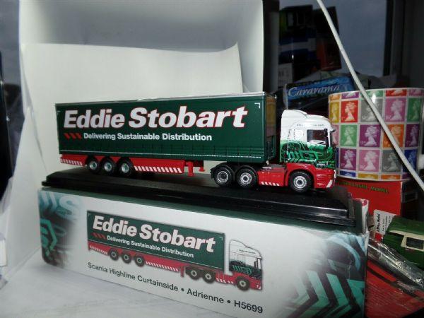 Oxford JV9108 Scania Horsebox Polo Team Eddie Stobart Atlas 1:76 Scale